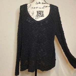 Free People Chunky Knit Oversized Sweater Size L